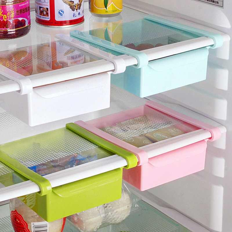 LASPERAL Creative Refrigerator Storage Box Fresh Spacer Layer Storage Rack Drawer Fresh Spacer Sort Kitchen Tool 16.5x15cm