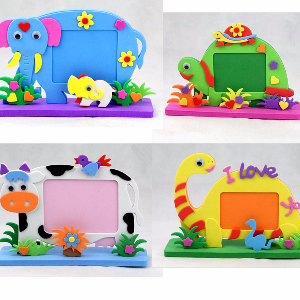 2017 new eva photo frame foam craft toy kids diy kits for Craft toys for kids
