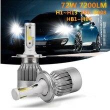 1 пара H4 светодиодный лампы H7 H1 H3 H8 H9 H11 H13 9005 HB3 9006 HB4 880 881 H27 9004 9007 авто фары 8000LM УДАРА автомобиль свет светодиодный светильник