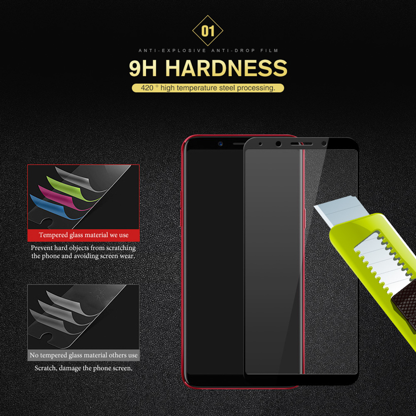 Tempered Glass For OPPO F5 F7 R15 R11 R9S plus Full Cover 9H Protective film Screen Protector For OPPO F5 A83 A3 R11S A59 Glass in Phone Screen Protectors from Cellphones Telecommunications