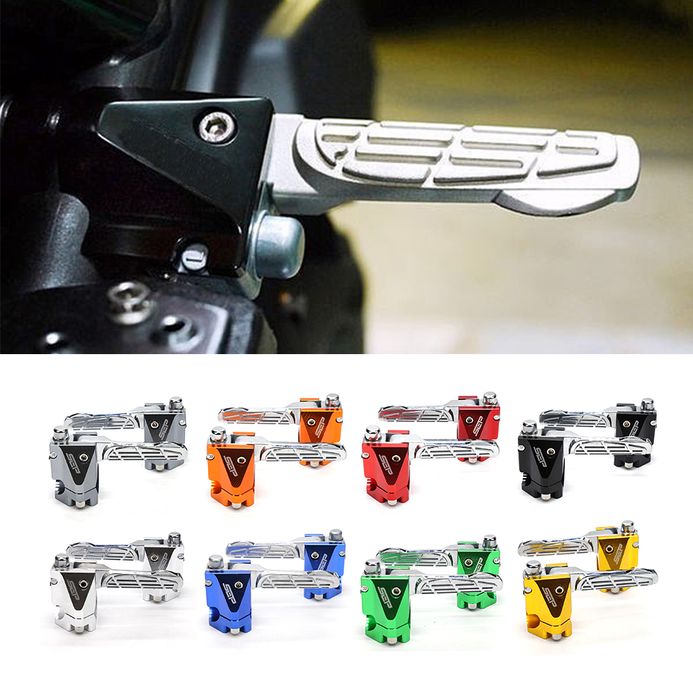 For Yamaha BWS X 125 Motorcycle Scooter Accessories CNC Aluminum Alloy Rear Passenger Foot pegs Pedals Footrest Foot Rest стоимость