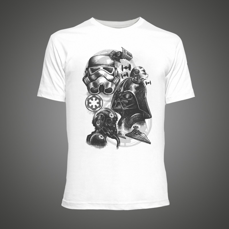 star wars empire t-shirt with darth vader rebels and stormtrooper