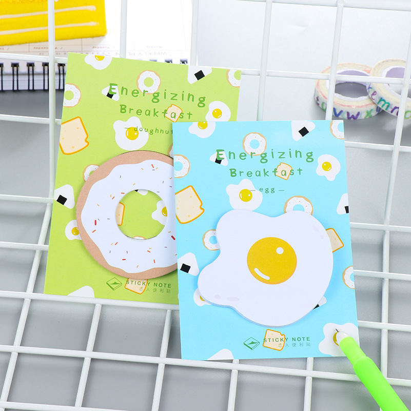1 PCS Cute Kawaii Egg Memo Pad Post It Note Creative Toast Sticky Paper For Kids Gift School Supplies Free Shipping BLT40