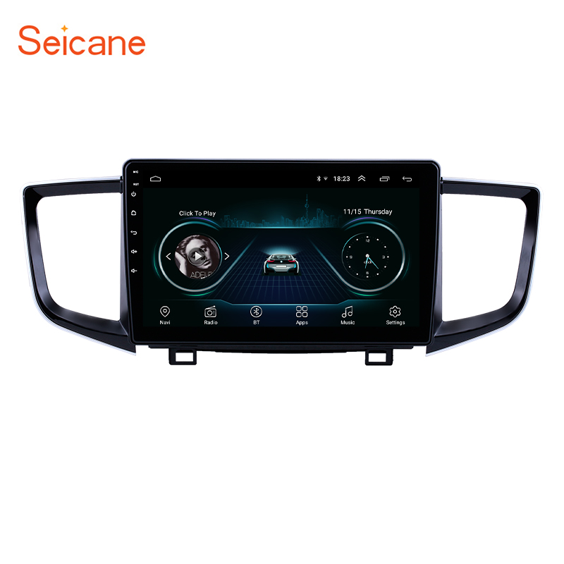 Seicane 2Din WIFI <font><b>GPS</b></font> Navi Car Radio Android 8.1 Multimedia Player Stereo <font><b>for</b></font> 2016-2018 <font><b>Honda</b></font> <font><b>Pilot</b></font> support Mirror Link OBD2 image