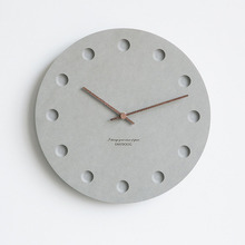 12 Inch Nordic Wall Clock Modern Creative Clock Minimalist Living Room Hanging Clock Bedside Mute Wood Clock Home Decor