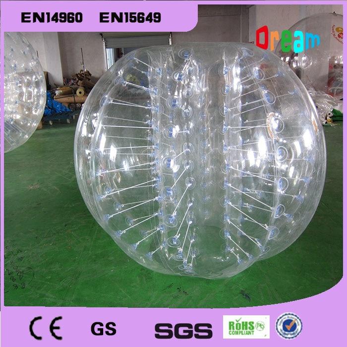 Gute Qualität 1,5 mt TPU Aufblasbare Blase Fußball Anzug Loopy Ball Mensch Hamster Ball Zorb Körper Ball Blase Fußball Für Verkauf