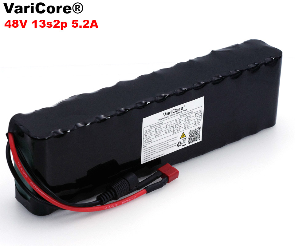 VariCore 48V 5.2ah 13s2p High Power 18650 Battery Electric Vehicle Electric Motorcycle DIY Battery 48v BMS Protection