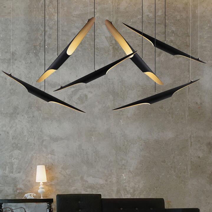Éclairage de lustre de Tube en aluminium Oblique de couleur délicieuse nordique pour le Restaurant Bar café déco LED luminaires suspendus