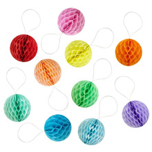 15pcs 2 (5cm) Mini Decorative Honeycomb Balls for Wedding Birthday Shower Nursery Christmas Party Space Decorations