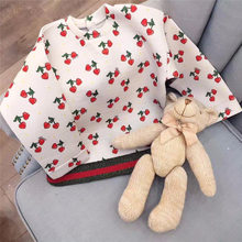 2017 Baby Kids Clothes Cherry Long Sleeve t shirt Cotton Kids T-shirt Costume Tops Roupas for Boys and Girls Bobo choses Style