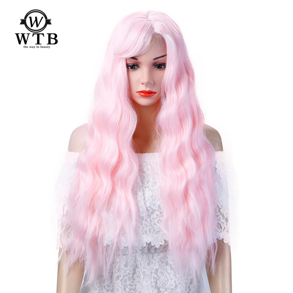Womens Long Full Body Wave Hair Heat Resistant Synthetic Wigs Cosplay Party Light Brown Natural Black WTB