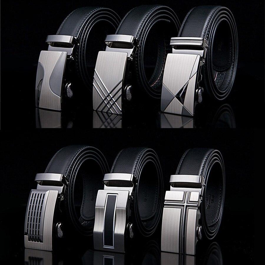 Cinturón de cuero de diseñador para hombre, cinturón de negocios, cinturón de hebilla automática para hombre, cinturón de calidad superior para Vaqueros
