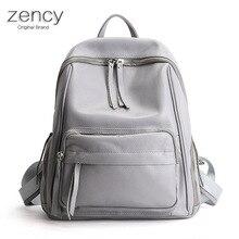 Zecny Модные рюкзаки реального Пояса из натуральной кожи Для женщин дамы рюкзак Топ Слои коровьей девушки школьная сумка кошелек Mochila