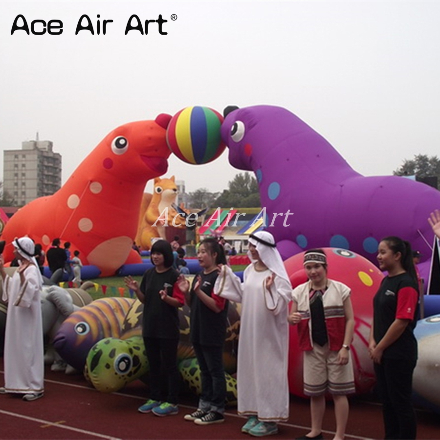outdoor giant decoration Inflatable Otarriinae /Inflatable sea lion for aquarium promotion
