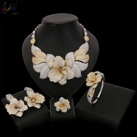 Yulaili роскошный цветочный большой дизайн новый модный набор украшений для женщин свадьбы