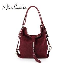 Нико Louise Для женщин реальные Разделение замша кожа сумка женский досуг нубука Повседневное Сумка Хобо топ-ручка сумки