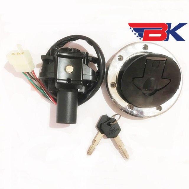Ignition Switch Lock Fuel Gas Cap Cover Seat Key For Kawasaki Ninja