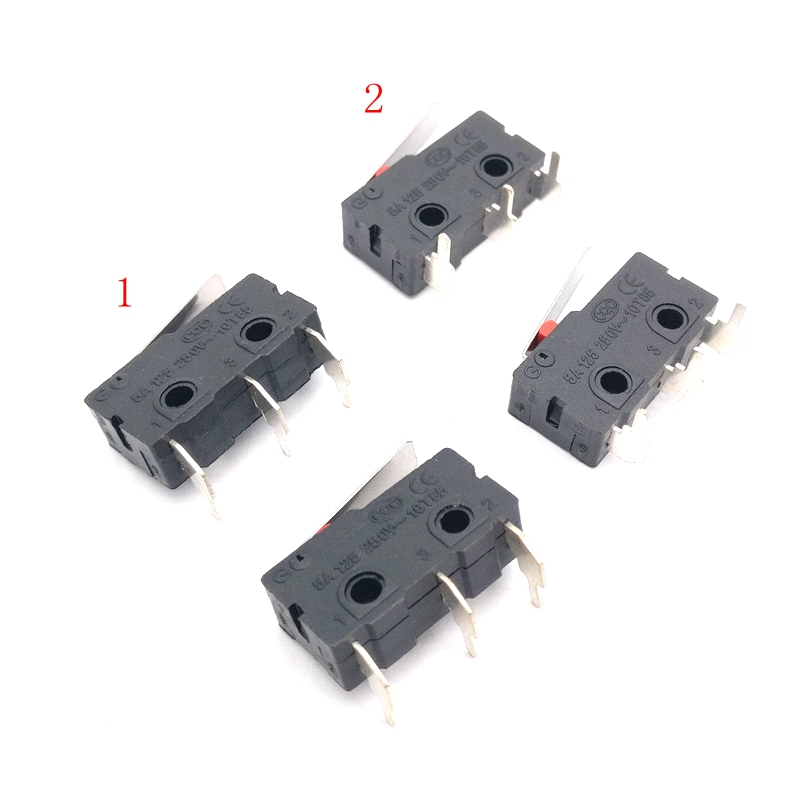 100Pcs Mouse Switch KW11-3Z-2 3PIN 5A 250VAC Mini Micro Switch 90 Degrees Right Angle