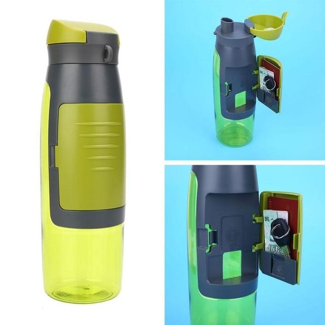 Bon Creative Sport Water Bottle Storage Wallet Grid Design Outdoor Sport Swim  Yoga Cycling Fruit Infuser Shaker