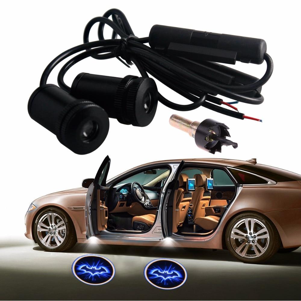 2pcs led car door welcome light laser projector logo batman shadow light car styling car. Black Bedroom Furniture Sets. Home Design Ideas