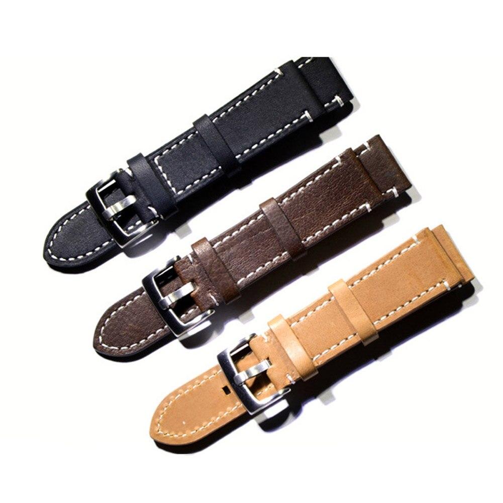 18/19/20/21/22mm Watch Band Strap Cow Leather Replacement Watchband Universal Wrist Bracelet TT@88 mitas td 19 18 4 34 8pr tt