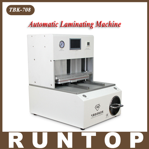 NEW TBK 708 for Curved Screen OCA LCD Laminating Machine for S6 edge S7 edge Bubble Remover Built-in Vacuum Pump Air Compressor new tbk 608 automatic oca vacuum laminating with bubble removing machine for lcd touch screen repair
