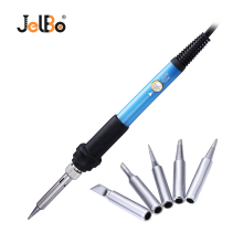 Jelbo 220V 60W Adjustable Temperature Electric Soldering Gun 5PC Solder Tips EU Plug Iron Set Welding Repair Hand Tool