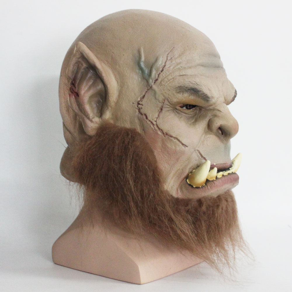 Image 2 - 2016 Movie World of Warcraft Mask Ogrim Doomhammer Latex Mask Party Halloween Mask-in Boys Costume Accessories from Novelty & Special Use