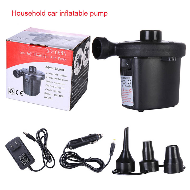 Car Inflatable Air Pump AC 12V For Camping Air Bed Inflate Boat Pump for Blo/_CC