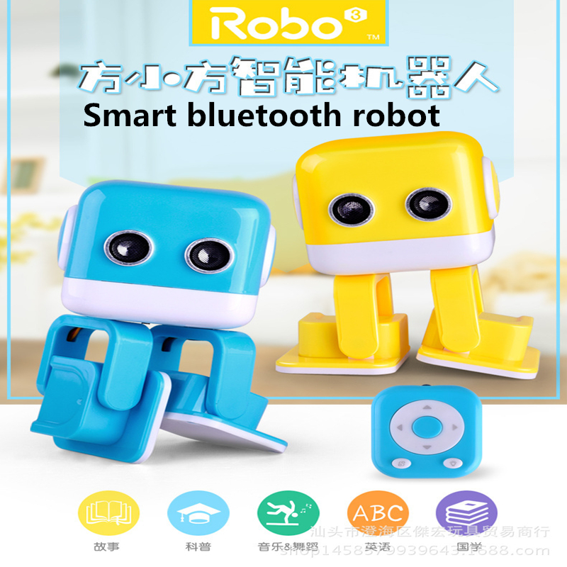 US $74 12 14% OFF|2018 Intelligent entertainment multi functional robot APP  programming dance music story machine toy-in Toy Phones from Toys &