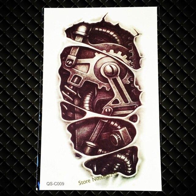 1 Stück 3d Mechanische Arm Tattooswasserdicht Tattoo 3d Körper Arm