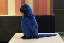 """12 """"Hyacinth Macaw Плюшени играчки в реалния живот Blue Parrot Пълнени Животни Играчки Soft Bird играчка рожден ден / Коледа"""