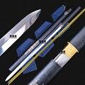 Espada china Tang Dao hecha a mano, espada de dragón chino hecha a mano, espada recta de dinastía Tang, navaja de afeitar, regalo de Ninja afilado