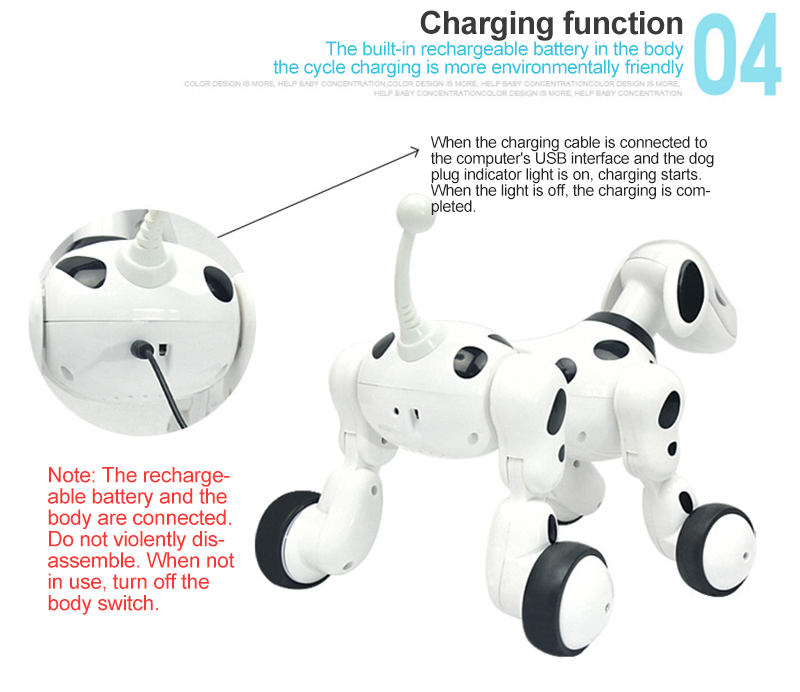 Controle remoto robô cão eletrônico animal de