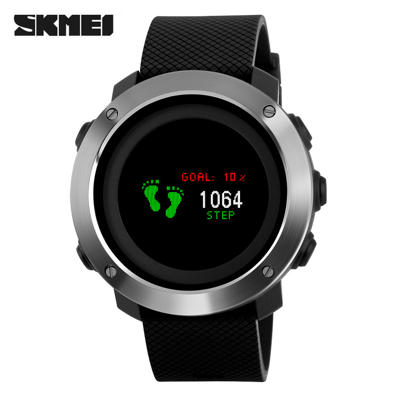 SKMEI Luxury Brand Sport Pedometer Calorie Compass Watch OLED Display Colorful Screen Waterproof Digital Wristwatches Relogio top luxury brand skmei sports watches men oled display wristwatches pedometer calorie compass waterproof digital watch relojes