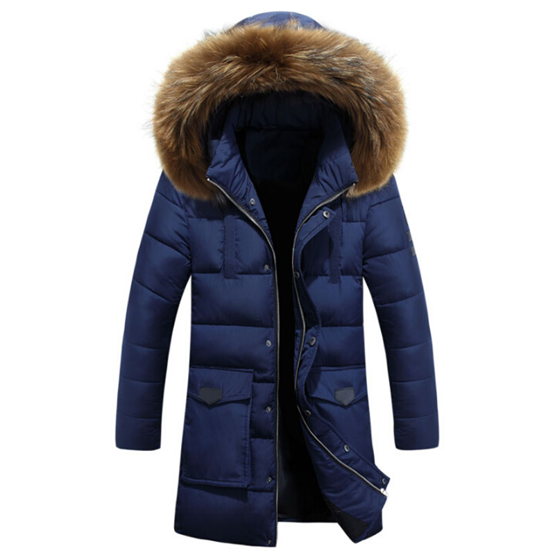 Men Winter Thicken Fur Hooded Parka Loose Plus Size Men'S Winter Jackets And Coats Men Hat Detachable Winter Park A2698