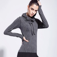 FLANDIS Long sleeve Yoga clothes Sport t shirt Yoga Sports tops for fitness gym women sportswear Running clothes for women