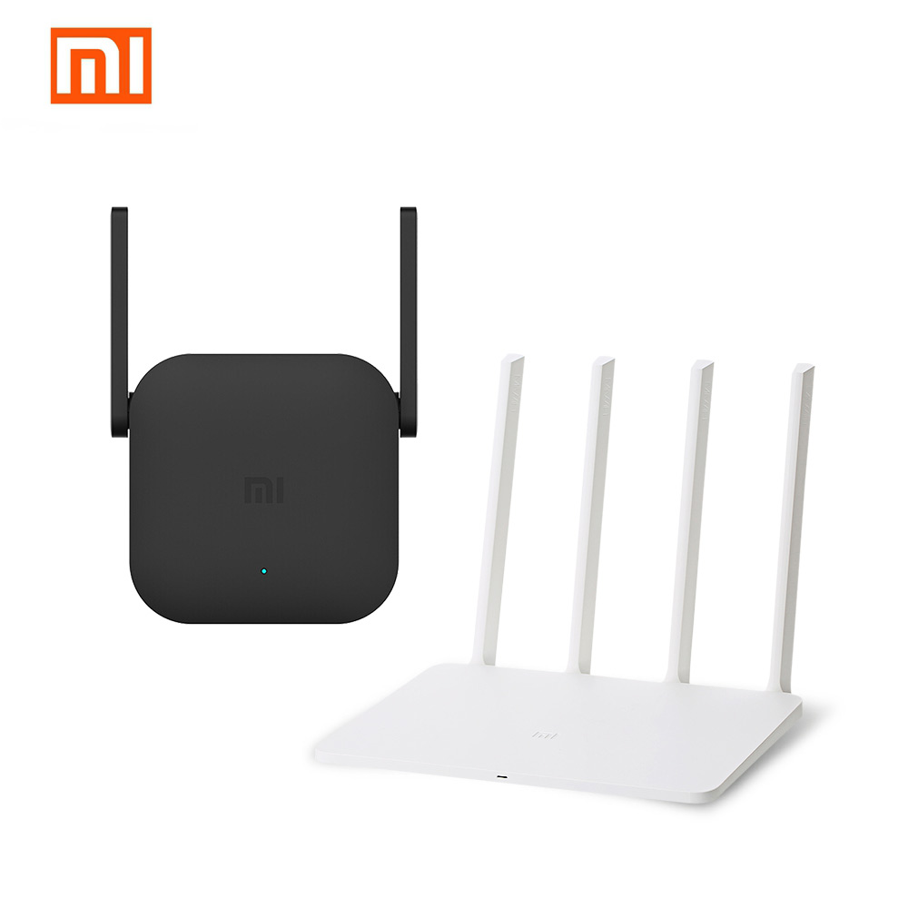 Xiaomi WiFi Router Repeater Set White WiFi Wireless 2.4GHz & 5GHz 867Mbps Router 3G And Black 300Mbps WiFi Wireless Repeater Pro xiaomi mi wifi router hd 1tb black