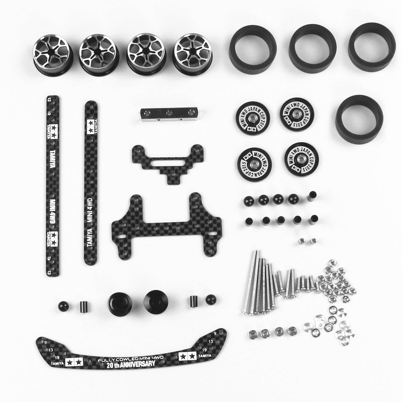 Free Shipping 1 Set FM Chassis Modification Spare Parts Set Kit With Carbon Parts  For Tamiya Mini 4WD RC Car Model H004 free shipping techone su29 800 3d epp kit version not include any electronic parts