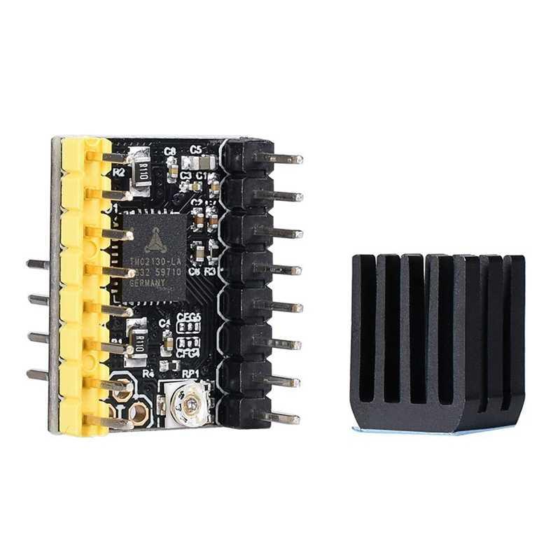3D Printer Deel Tmc2130 V2.0 Stappenmotor Stepstick Mute Stille Driver Met Heatsink Voor 3D Printer Control Board (Pack van 2
