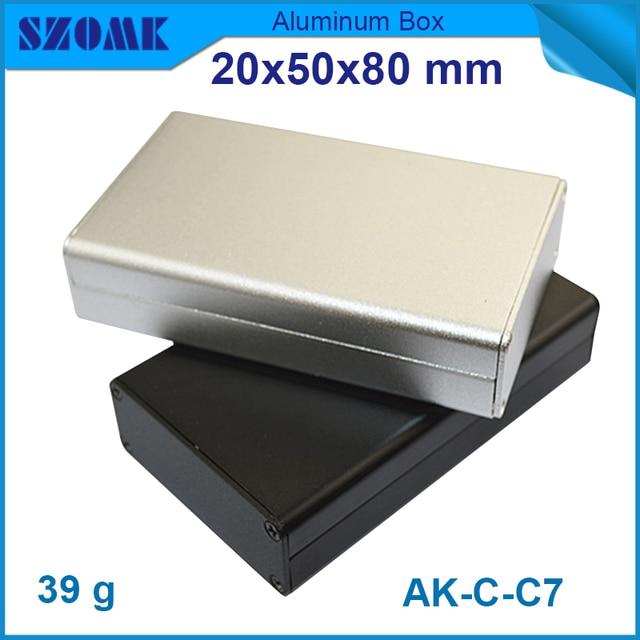 Aluminium junction box enclosures for electronics szomk aluminium electrical housing project black housing case for pcb board