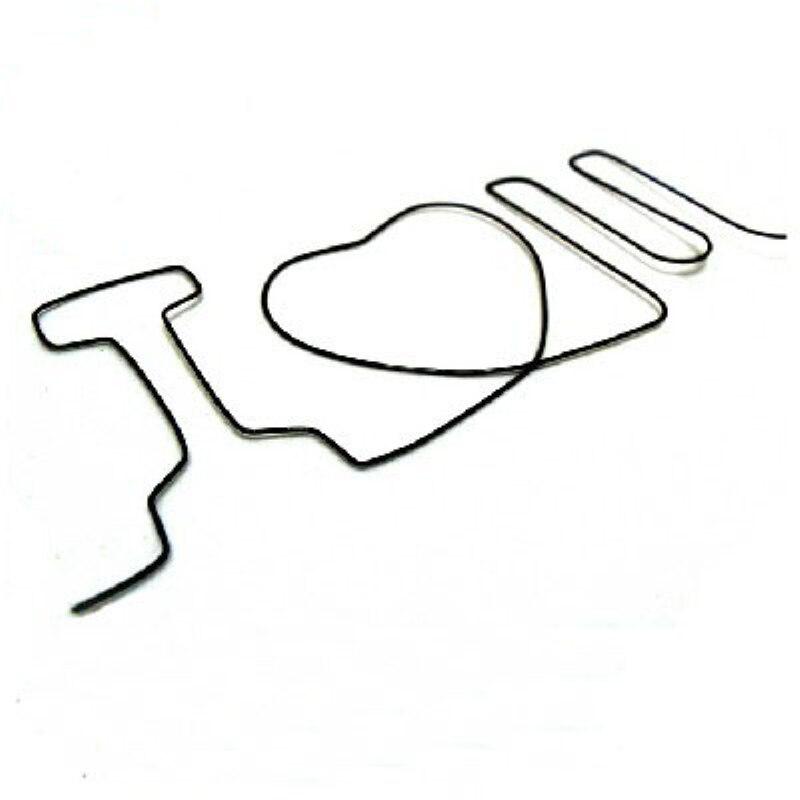 Free shipping Memory iron wire I love U I love you mentalism magic ...