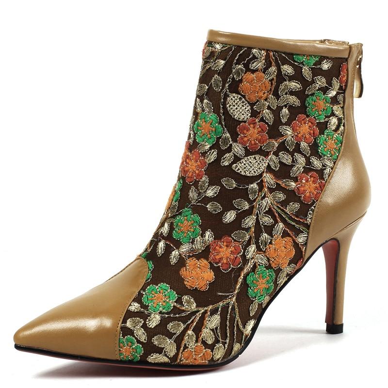 À Taille 34 Martin Fleur Plus Kaki Talons 42 Hauts Cheville Chaussures La De Mode Lovexss Hiver Femme Noir Automne Noir Bottes marron qwOnOPTvS