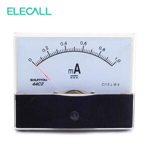 Elecall 44c2 1ma amperímetro analógico medidor de teste atual dc encabeçamento mecânico amperímetro