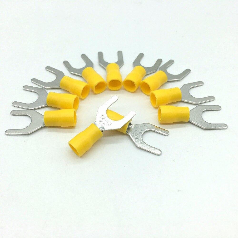 Желтая пурпурная предварительно изолирующая клемма (тип в) холоднопрессованные клеммы/соединитель кабеля/соединитель проводов 100