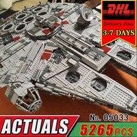 DHL LEPIN 05033 Star Millennium Falcon Building Blocks Model Kit Military Wars Bricks Compatible 10179 Toy