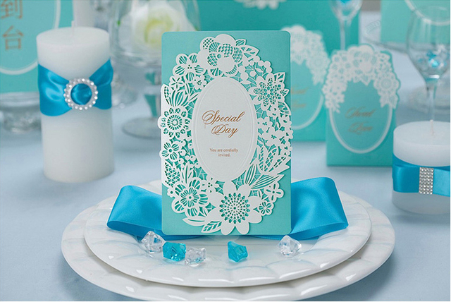 top quality tiffany blue pink wedding invitation card 185 128mm