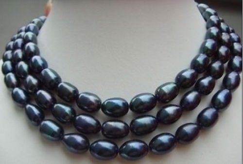 >>> >>>49HUGE 11-13 MM surprising AAA south sea black baroque pearl necklace 14KGPT>>> >>>49HUGE 11-13 MM surprising AAA south sea black baroque pearl necklace 14KGPT