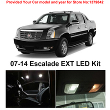 цена на Free Shipping 16Pcs/Lot car-styling Xenon White Canbus Package Kit LED Interior Lights For Cadillac Escalade EXT 2007-2014