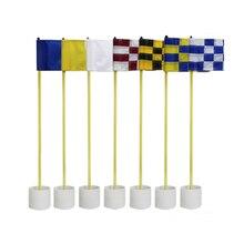 CRESTGOLF 1set Per Pack Backyard Golf Practice set Golf Hole Pole Cup Flag Stick Putting Green Flagstick